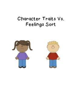 Character Traits Vs. Feelings Sort