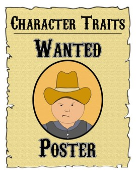 Character Traits Wanted Poster