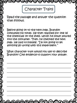 Character Traits: Ways to Identify Character Traits and Practice Printables