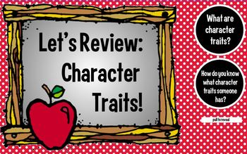 Character Traits Week Long Unit-SMARTBoard Lesson