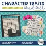 Character Traits Word Wall