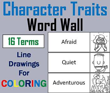 Character Traits Word Wall Cards