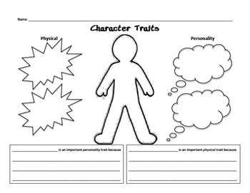 character traits worksheet by joyce126 teachers pay teachers. Black Bedroom Furniture Sets. Home Design Ideas