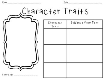 Character Trait Worksheets | Teachers Pay Teachers