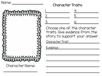 photo relating to Printable Characters identify Temperament Features Worksheet Printable