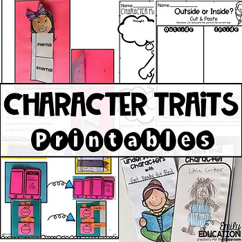 Character Traits Worksheets Teachers Pay Teachers