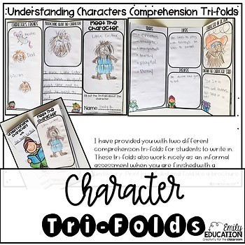 Character Traits- Worksheets, Interactive Journal Pages, Graphic Organizers