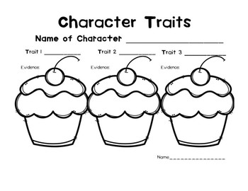 Character Traits Worksheets for Any Story