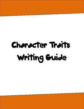 Character Traits Writing