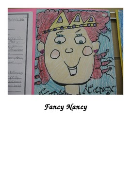 Character Traits Writing Activity Starring Fancy Nancy and David Goes to School