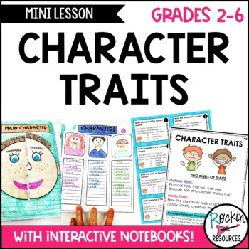 Character Traits:  Writing Mini Lesson