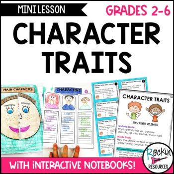 Character Traits:  Writing Mini Lesson