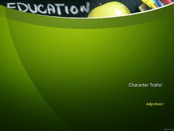 Character Traits and Adjectives