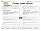 Character Traits and Changes Graphic Organizer and Word Li