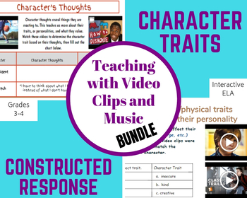 Character Traits and Constructed Response Bundle