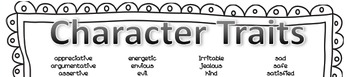 Character Traits and Feeling Words Poster