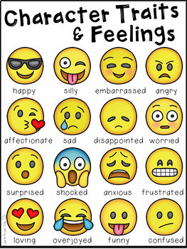 Character Traits and Feelings - Emoji Edition