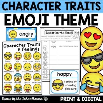 Character Traits and Feelings - Emoji Edition