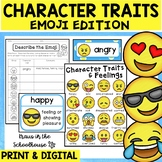 Character Traits Activities Emoji Theme | Easel Activity D