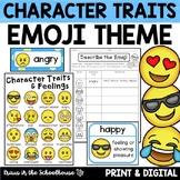 Character Traits Activities Emoji Theme | TpT Digital Acti