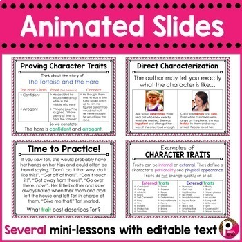 Character Traits and Feelings PowerPoint Minilesson