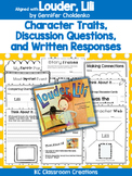 Louder, Lili - Book Study - Character Traits and More!