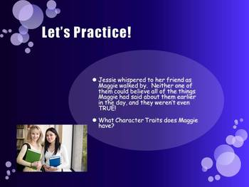Character Traits and Motivation {Lesson and Practice} for 3-7th Grade