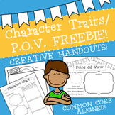 Character Traits and P.O.V. FREEBIE