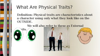 Character Traits and Physical Traits using A Bad Case of the Stripes