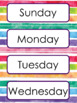 Back to School Character Traits and Rainbow room decor