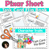 Character Traits and Theme Task Card Flip Book with Pixar Short Films