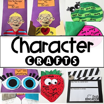 Character Traits and Understanding Characters Craft Activities