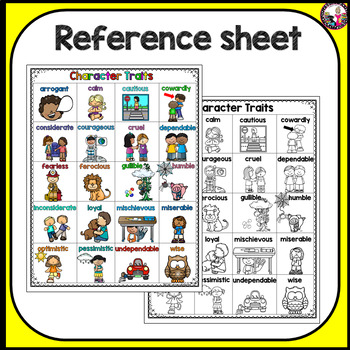 Character Traits for First Graders!!! REVISED!