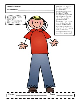 Character Traits for Language Arts Common Core