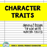 Character Traits in Mentor Text