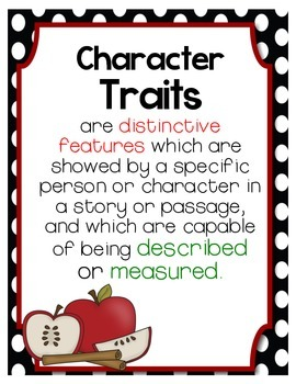Character Traits in Reading and Writing