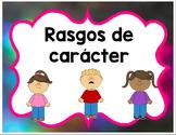 Character Traits in Spanish, rasgos de caracter