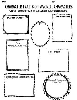 Character Traits of Favorite Characters
