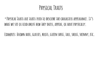 Character Traits presentation