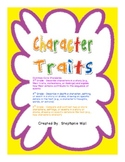 Character Traits - tied to Common Core