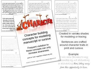 Character Traits to improve manuscript print or cursive