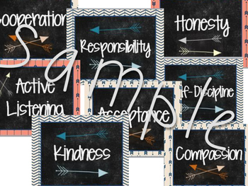 Character Traits (tribal theme)