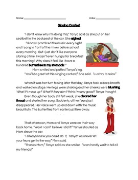 Character Traits vs. Emotions, Text Evidence- full lesson