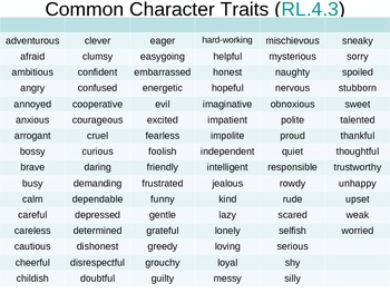Character Traits with Evidence