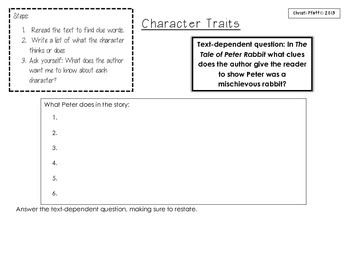 Character Traits with The Tale of Peter Rabbit