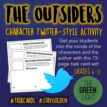 The Outsiders Twitter-Style Task Cards: Quizzes, Bell-Ring