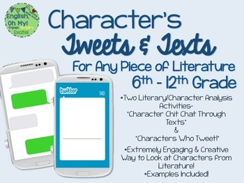Character: Twitter and Texts, Analysis, ANY GRADE