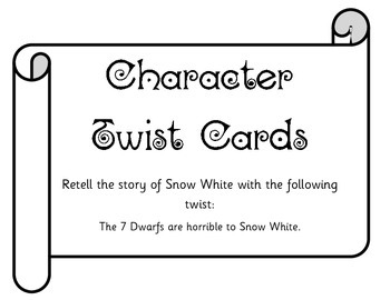 Character Twist Cards