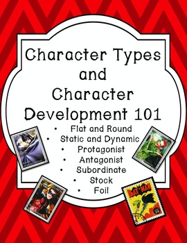 Character Type and Development Posters and Activity