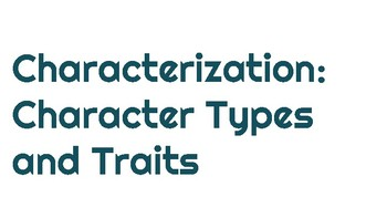 Character Types Mini Lesson